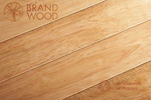 Паркетная доска Brand Wood, Гевея Натур гладкая 1-но пол. фото №1