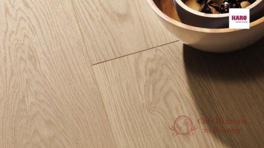 Паркетная доска Haro, Дуб пуро белый эксклюзив 531679, 1-но пол. фото №3
