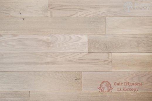 Паркетная доска Brand Wood, Дуб Белый D08 (прозрачный, теплый) фото №1