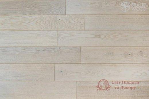 Паркетная доска Brand Wood, Дуб Белый D28 (прозрачный, холодный) фото №1