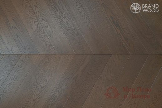 Паркетная доска Brand Wood, Дуб Chevron 90 D-52 фото №1