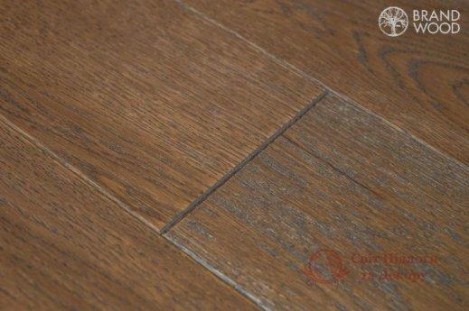 Паркетная доска Brand Wood, Дуб Коричневый D52 (темный) фото №3