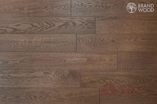 Паркетная доска Brand Wood, Дуб Коричневый D52 (темный) фото №1