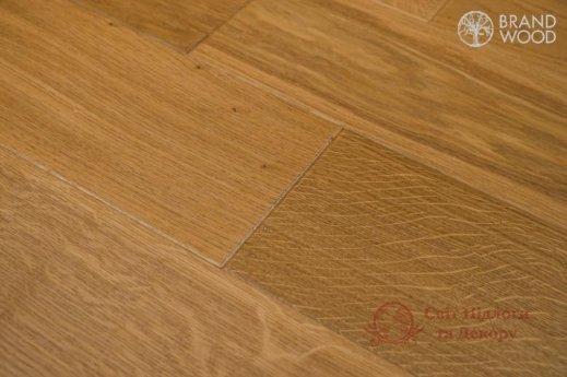 Паркетная доска Brand Wood, Дуб Бежевый D57 (средний) фото №2