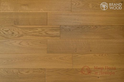 Паркетная доска Brand Wood, Дуб Бежевый D57 (средний) фото №1