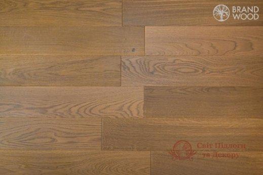 Паркетная доска Brand Wood, Дуб Бежевый D69 (темный) фото №1