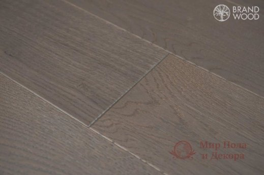 Паркетная доска Brand Wood, Дуб Серый D80 (средний) фото №3