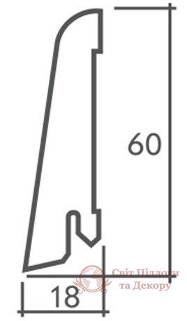 Плинтус деревянный шпонированный «ДЕ плинтус» 60x18 фото №2