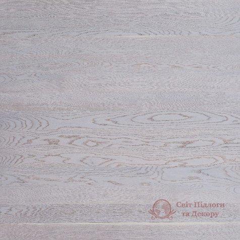 Паркетная доска Focus Floor, Дуб Etesian White 1-но пол. фото №1