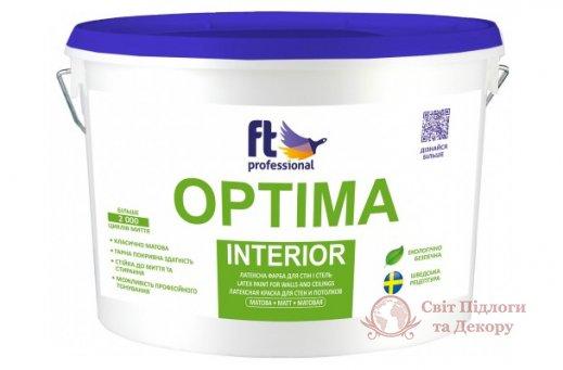 Краска глубокоматовая Ft professional OPTIMA INTERIOR (10 л) фото №1