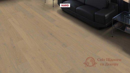 Паркетная доска Haro, Дуб серый песочный маркант 541714, 1-но пол. фото №2