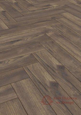 Ламинат Herringbone, Дуб Паттерсон темный 4766 фото №1