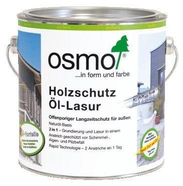 Защитное масло-лазурь для древесины с эффектом серебра Osmo Holzschult Ol-Lasur (2,5 л) фото №1