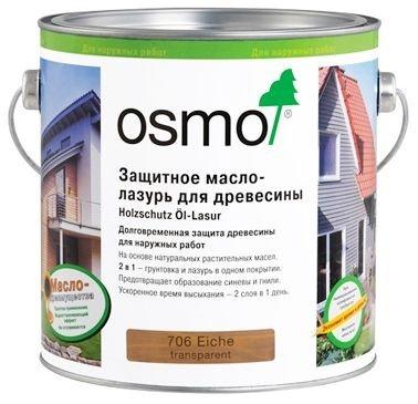 Защитное масло-лазурь для древесины Osmo Holzschutz Ol-Lasur (2,5 л) фото №1