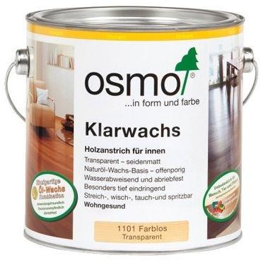 Масло с воском для твердых пород древесины Osmo Klarwachs (2,5 л) фото №1