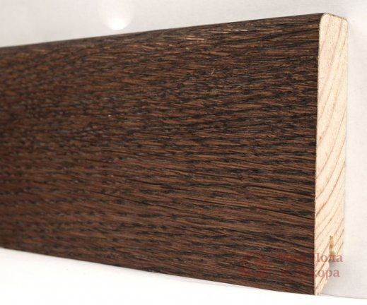 Плинтус деревянный шпонированный Kluchuk Модерн Дуб какао фото №1