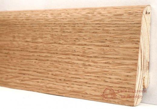 Плинтус деревянный шпонированный Kluchuk Евро Дуб натур фото №1