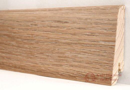 Плинтус деревянный шпонированный Kluchuk Евро Дуб патина фото №1