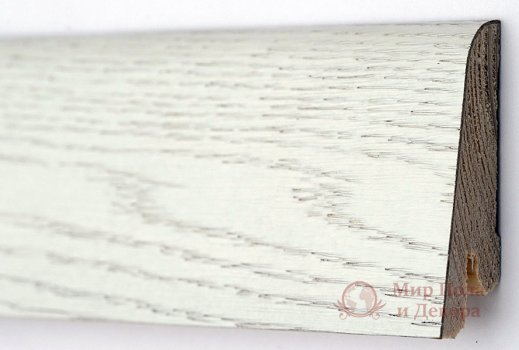 Плинтус деревянный шпонированный Kluchuk Rustique 60 Дуб арктик фото №1