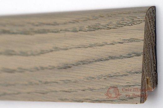 Плинтус деревянный шпонированный Kluchuk Rustique 80 Дуб серебряный фото №1