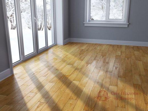 Паркетная доска Brand Wood, Гевея Натур гладкая 1-но пол. фото №2