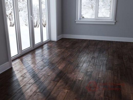 Паркетная доска Brand Wood, Гевея Brown гладкая 1-но пол. фото №2