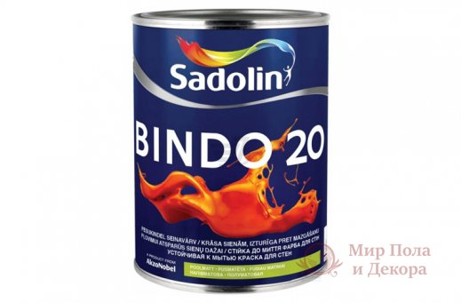 Краска матовая Sadolin BINDO 20 (1 л) фото №1