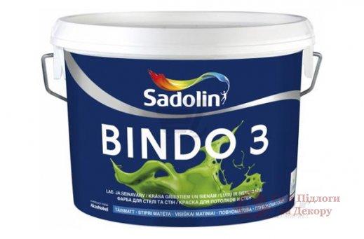 Краска для потолка и стен Sadolin BINDO PROF 3 (20 л) фото №1