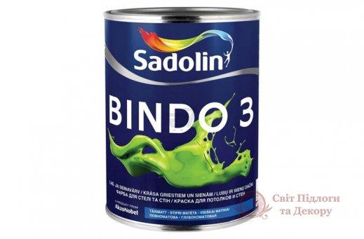Краска для потолка и стен Sadolin BINDO 3 (2,5 л) фото №1