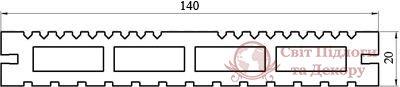 Террасная доска Tardex, колл. Lite Натур фото №2
