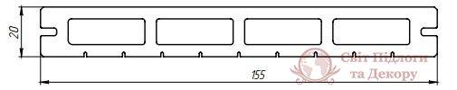 Террасная доска Tardex, колл. Lite Premium Венге фото №2