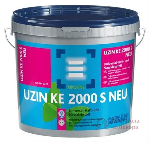 Клей для виниловой плитки Uzin KE 2000 S (6 кг) фото №1