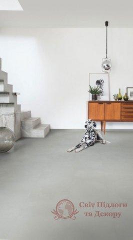 Виниловый пол Quick-Step Ambient Glue Plus, Минимальный светло-серый AMGP40139 фото №4