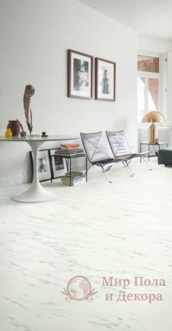 Виниловый пол Quick-Step Ambient Glue Plus, Мрамор белый каррарский AMGP40136 фото №4