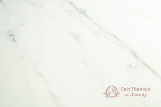 Виниловый пол Quick-Step Ambient Glue Plus, Мрамор белый каррарский AMGP40136 фото №2