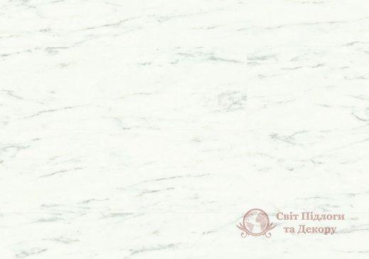 Виниловый пол Quick-Step Ambient Glue Plus, Мрамор белый каррарский AMGP40136 фото №1