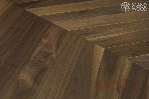 Паркетная доска Brand Wood, Орех Chevron 120 Natur фото №3