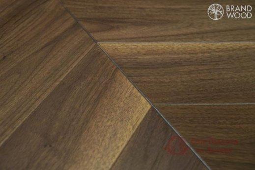 Паркетная доска Brand Wood, Орех Chevron 120 Natur фото №2