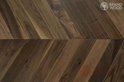 Паркетная доска Brand Wood, Орех Chevron 120 Natur фото №1