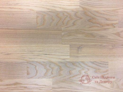 Паркетная доска WoodPecker, Ясень Trend White 3-х пол. фото №1